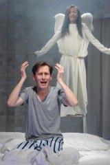 Luke Mullins and Paula Arundell in <i>Angels in America</i>.
