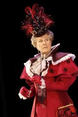 Nothing like a dame &#8230; Geoffrey Rush as Lady Bracknell in MTC's <i>The Importance of Being Earnest</i>.