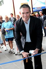Craig Thomson at an opening in his electorate last year.
