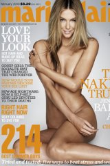 Jennifer Hawkins on the cover of the February issue of marie claire magazine, on sale from January 6.