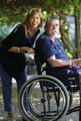 Sacred Heart Hospice volunteer Vicki Krenn with patient Richard Green.