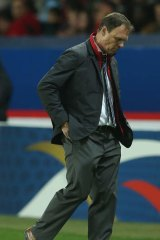 Crestfallen: Socceroos coach Holger Osieck after the French defeat.