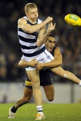 Geelong's Taylor Hunt during round 21.