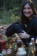 Gillian Kozicki with her homemade kombucha.
