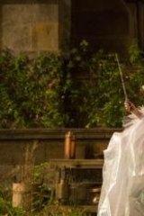 Helena Bonham Carter as the fairy godmother in <i>Cinderella</i>.