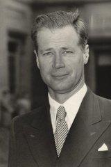 Former departmental secretary and diplomat Dr John Burton in 1954.