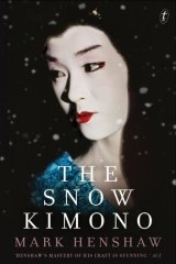 """<i>The Snow Kimono</i> by Mark Henshaw: Judges praised the novel as """"an exquisite work of art designed to deceive""""."""