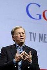 Google CEO Eric Schmidt introduces Google TV. Photo: Reuters/Robert Galbraith