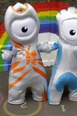Olympic mascot Wenlock, left, and Paralympic mascot Mandeville.