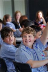 Year 7 students at William Ruthven Secondary College in Reservoir.