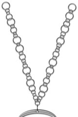 The bead of this necklace is actually the polished lip of a beer bottle, on a 925 sterling silver rhodium-plated chain.