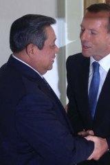 Tony Abbott meets Susilo Bambang Yudhoyono in Indonesia last year.