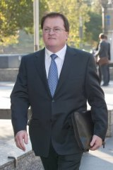 PWC partner Stephen Cougle leaving the Federal Court in Melbourne.