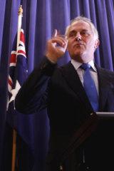 Fighting talk ... Malcolm Turnbull.