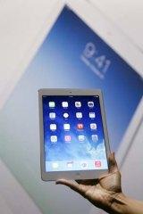 Apple's new iPad Air.