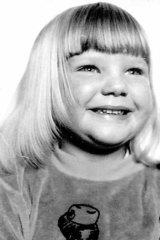 Five-year-old Tracey Levey.