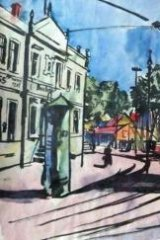 <i>Street Tram</i> by Bernhard Kretschmar was in the Gurlitt collection.