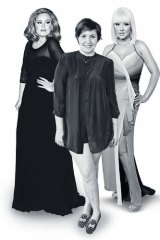Body politic … (from left) Adele, Lena Dunham and Christina Aguilera have figures that real women can relate to.