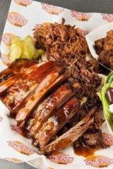 Sample Big Boy BBQ's sticky lamb ribs at Prahran Market's Spring Lamb Festival.