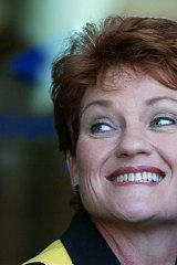 Pauline Hanson... leading the count.