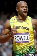 Speed merchant: Asafa Powell in action for Jamaica at the London Olympics last year.