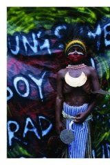 Playful: Eric Bridgeman's image of a boy from Simbu Province is a mixture of street art and tradition.