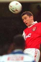 Alan Smith, seen here playing with a very different ball in 1994.