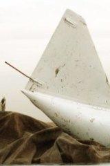 A large piece of Payne Stewart's Lear Jet.