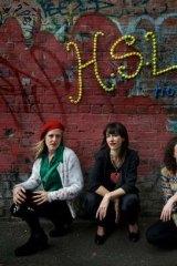 Hotham Street Ladies Lyndal Walker, Cassandra Chilton and Sarah Parkes.