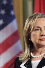 Iron lady ... Hillary Clinton will attempt to establish an agreement with Russia's Foreign Minister, Sergei Lavrov, on a peace plan for Syria as set out by an international conference prior to the Geneva talks.