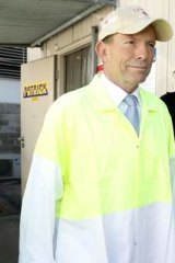 Countdown: Peta Credlin with Tony Abbott.