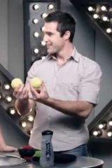 Pardon the pun ... a pair of tennis balls come up shiny.
