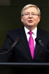 """Asking for a second chance: """"Fair go"""" Kevin Rudd."""