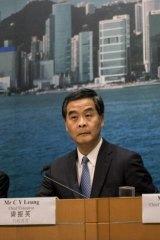 Hong Kong chief executive CY Leung in September.