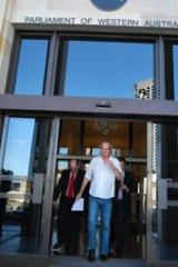 'Not enough'... Andrew Mallard exits WA's Parliament House.