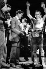 Former boxer Barry Michael during a win in Melbourne in the 1980s.
