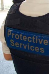 Protective services officers clashed with a man at Broadmeadows station.