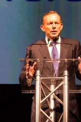 Prime Minister Tony Abbott in Perth. The federal government donated $2million to Telethon.