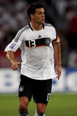 Michael Ballack in action for Germany.