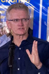 Playing down chances: The LNP's Bill Glasson is doing well in polls.