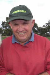 Senator John Williams at his property in New South Wales.