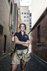 Building suits me: carpentry apprentice Juliette Liddle.