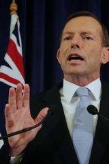 Backflipped on nuclear power stance ... Coalition leader Tony Abbott.