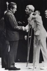 John McCain is greeted by President Richard Nixon in 1973.