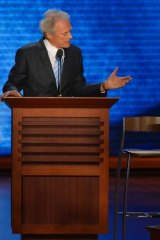 Lasting image ... Clint Eastwood and the infamous chair.