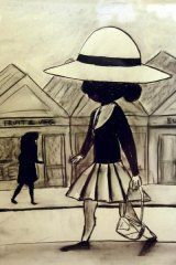 Street Scene with Schoolgirl, supposedly by Charles Blackman.