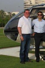 Andrew Kelly and Kazal at the Emirates Palace Hotel in Abu Dhabi.