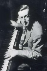Working the ivories ... Bell in 1947.