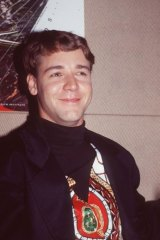 Fresh-faced: Russell Crowe was a rising star when he appeared in a 1988 staging of the musical at the Seymour Centre.