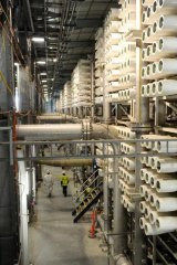 Delays have plagued the controversial desalination plant.